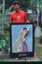 AIDS improvised poster in Cuba