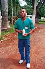Cuba doctor with AIDS medicines