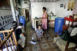 Bad housing conditions in Cuba