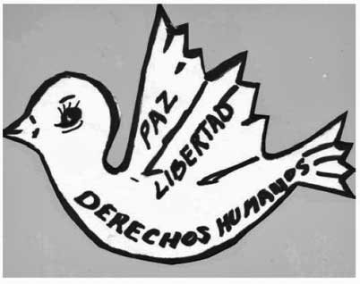 Peace logo of the Ladies in White Damas de Blanco