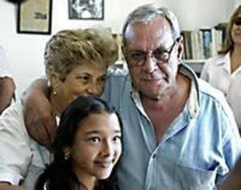 Raul Rivero and family Cuban journalist