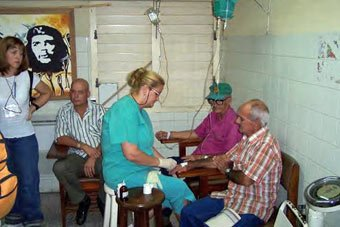 Cuban hospital emergency room