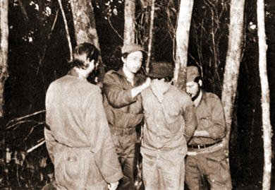 Raul Castro at the shooting of a condemned prisoner