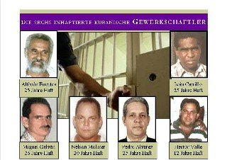 Tarde unionists in jail in Cuba